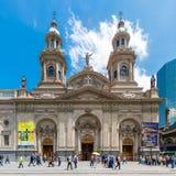 Catedral Metropolitana de Σαντιάγο Plaza de Armas, Χιλή Στοκ εικόνα με δικαίωμα ελεύθερης χρήσης