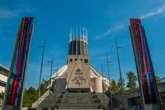 Catedral metropolitana de Cristo el rey Liverpool Merseyside England imágenes de archivo libres de regalías