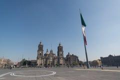 Catedral metropolitana de la ciudad de México en el cuadrado de Zocalo fotografía de archivo