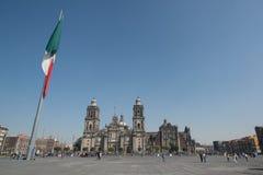 Catedral metropolitana de la ciudad de México en el cuadrado de Zocalo foto de archivo libre de regalías