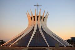 Catedral metropolitana en Brasilia, el Brasil Foto de archivo libre de regalías