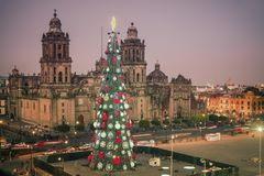 Catedral metropolitana en Ciudad de México foto de archivo