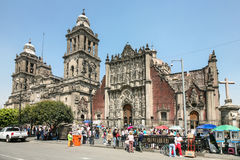 Catedral Metropolitana en el centro de Ciudad de México fotografía de archivo libre de regalías