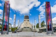 Catedral metropolitana en Liverpool, Reino Unido fotos de archivo