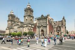 Catedral Metropolitana no centro de Cidade do México foto de stock