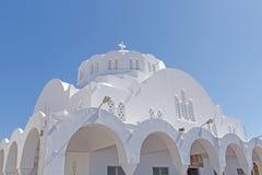 Catedral metropolitana ortodoxa en Fira imagenes de archivo