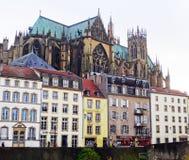Catedral, Metz, Francia fotos de archivo libres de regalías