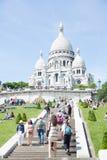 Catedral Montmartre de Sacre Coeur Foto de archivo libre de regalías