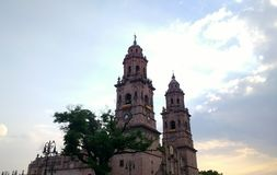 Catedral of Morelia. The principal church of Morelia, Michoacan in Mexico Stock Images