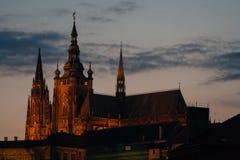 Catedral na cidade Praga Imagens de Stock