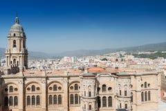 A catedral na Espanha de Malaga Imagens de Stock