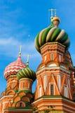 Catedral na manhã, Moscou do ` s da manjericão do St, Rússia fotografia de stock royalty free