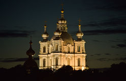 Catedral na noite Foto de Stock