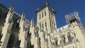Catedral nacional en un día soleado almacen de video
