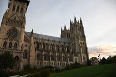 Catedral nacional en vista lateral del Washington DC imágenes de archivo libres de regalías