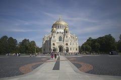Catedral naval de Kronstadt Fotografía de archivo