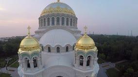 Catedral naval de Kronstadt almacen de video