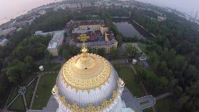 Catedral naval de Kronstadt almacen de metraje de vídeo