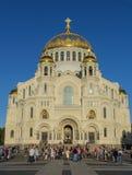 Catedral naval de Kronstadt Imagen de archivo libre de regalías
