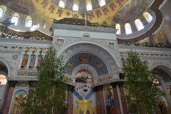 A catedral naval de São Nicolau o Wonderworker - las construídos Imagens de Stock