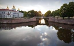 Catedral naval de San Nicolás en St Petersburg Imagen de archivo libre de regalías