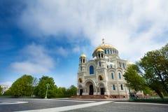 Catedral naval del santo Nicholas en Kronstadt Fotografía de archivo