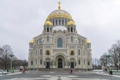 Catedral naval em Kronstadt imagem de stock royalty free