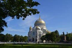 Catedral naval Kronstadt Foto de Stock