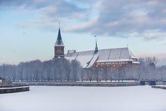 Catedral no inverno Imagem de Stock Royalty Free