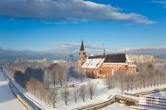 Catedral no inverno Fotos de Stock Royalty Free