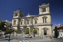 Catedral no La Paz, Plaza de la União, Bolívia Fotos de Stock