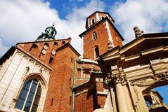 Catedral no monte de Wawel em Cracow Fotos de Stock Royalty Free