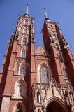 Catedral no Wroclaw imagens de stock