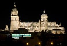 Catedral nocturna Foto de archivo libre de regalías
