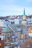Catedral Noruega de Tromso imagens de stock royalty free