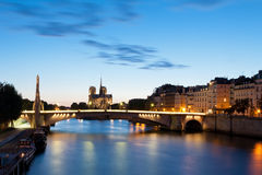 A catedral Notre Dame de Paris Imagens de Stock Royalty Free