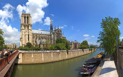 Catedral Notre Dame em Paris, France. Foto de Stock