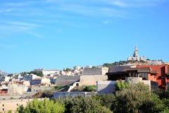 Catedral Notre Dame en la ciudad de Marsella imagenes de archivo