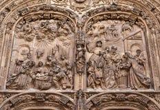 Catedral nova de Salamanca (Catedral Nueva) Fotografia de Stock