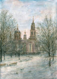 Catedral ortodoxa ilustración del vector
