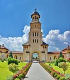 Catedral ortodoxa en Iulia Alba foto de archivo