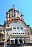 Catedral ortodoxa en la ciudad Fagaras, condado de Brasov Imagenes de archivo