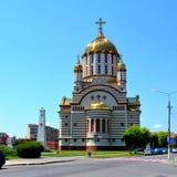 Catedral ortodoxa en la ciudad Fagaras, condado de Brasov Fotos de archivo libres de regalías