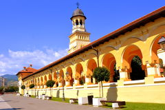 Catedral ortodoxa en la fortaleza medieval Alba Iulia, Transilvania Imágenes de archivo libres de regalías