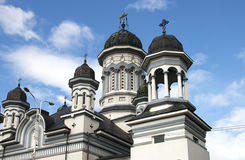 Catedral ortodoxa en Radauti Fotografía de archivo