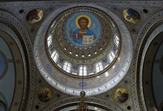 Catedral ortodoxa en Riga, decoración interior, bóveda interna Imagenes de archivo