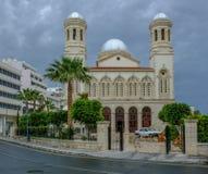 Catedral ortodoxa griega del napa de Agia en Limassol, Chipre Fotos de archivo libres de regalías