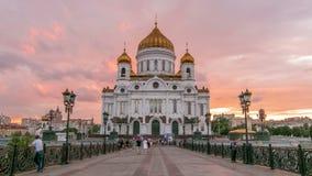 Catedral ortodoxa majestuosa del salvador de Cristo con almacen de video