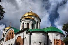 Catedral ortodoxa rusa Imagen de archivo libre de regalías