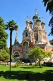 Catedral ortodoxa rusa Imágenes de archivo libres de regalías